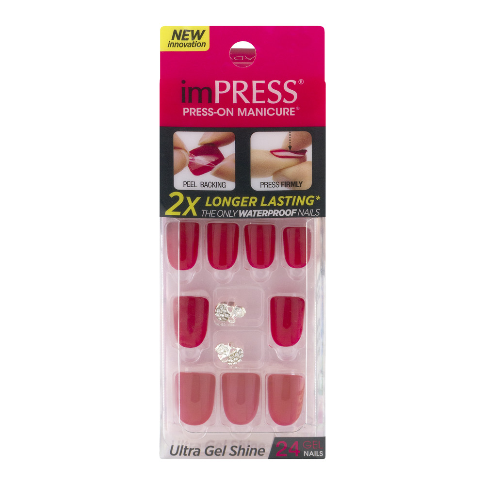 imPRESS Press-On Manicure Ultra Gel Shine Nails - 24 CT