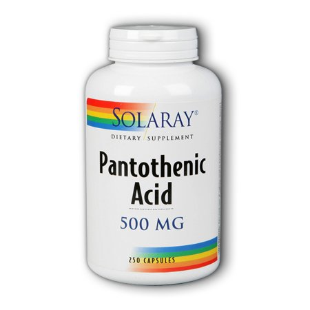 Solaray Pantothenic Acid 500 mg - 250 Capsules