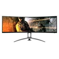 "AOC AG493UCX 49"" Dual QHD 5120 x 1440 120Hz 1ms HDMI DisplayPort FreeSync HDR Curved LED Gaming Monitor"