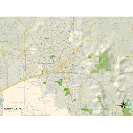 Political Map of Huntsville, AL Print Wall Art](Halloween Store Huntsville Al)