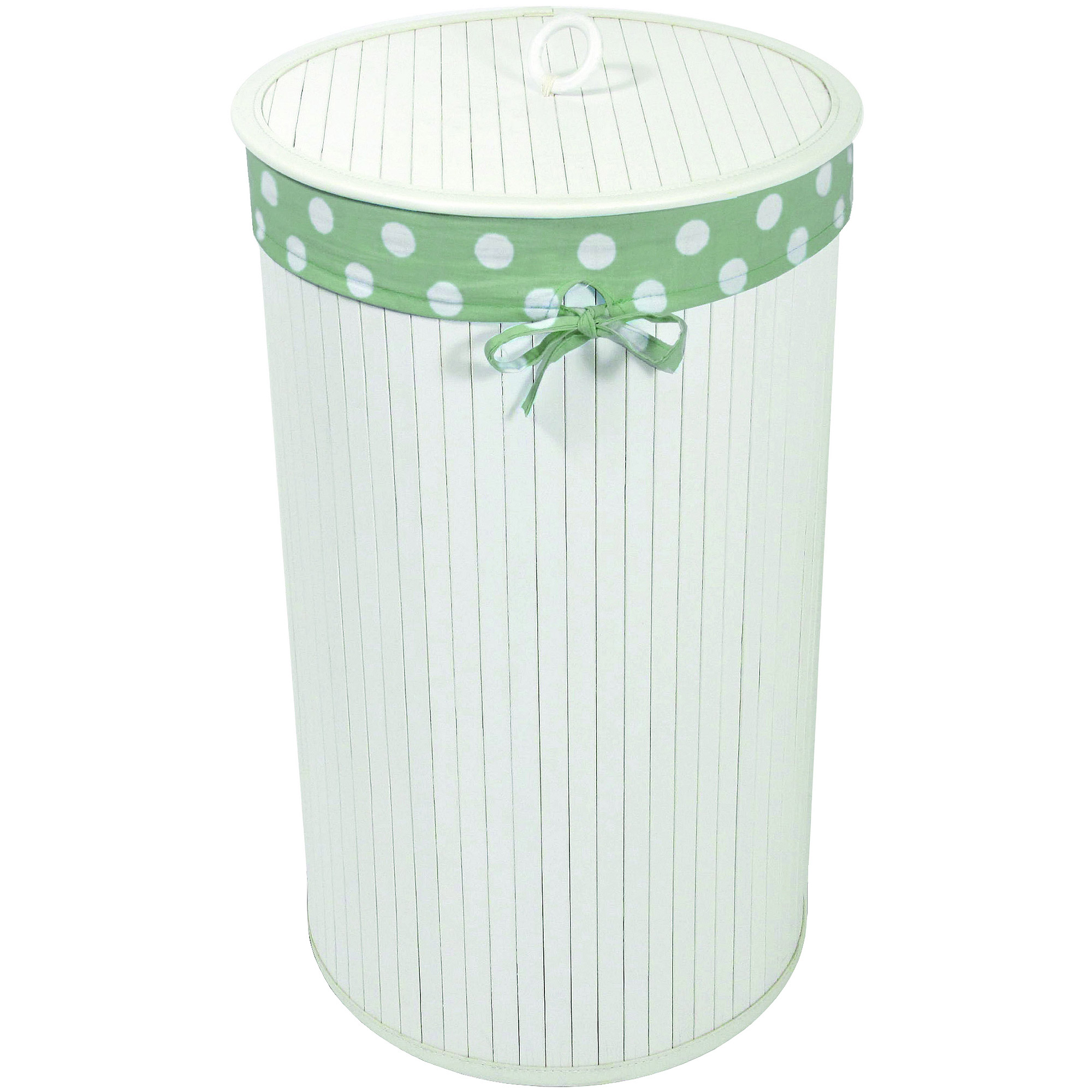 Baby Things Bamboo Hamper with Liner, White by Redmon