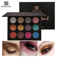 12Colors Mineral Pressed Glitter Eyeshadow Palette Professional Highly Pigmented