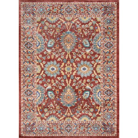 Momeni Cypress Polyester Machine Made Red Area Rug 4' X 6' ()