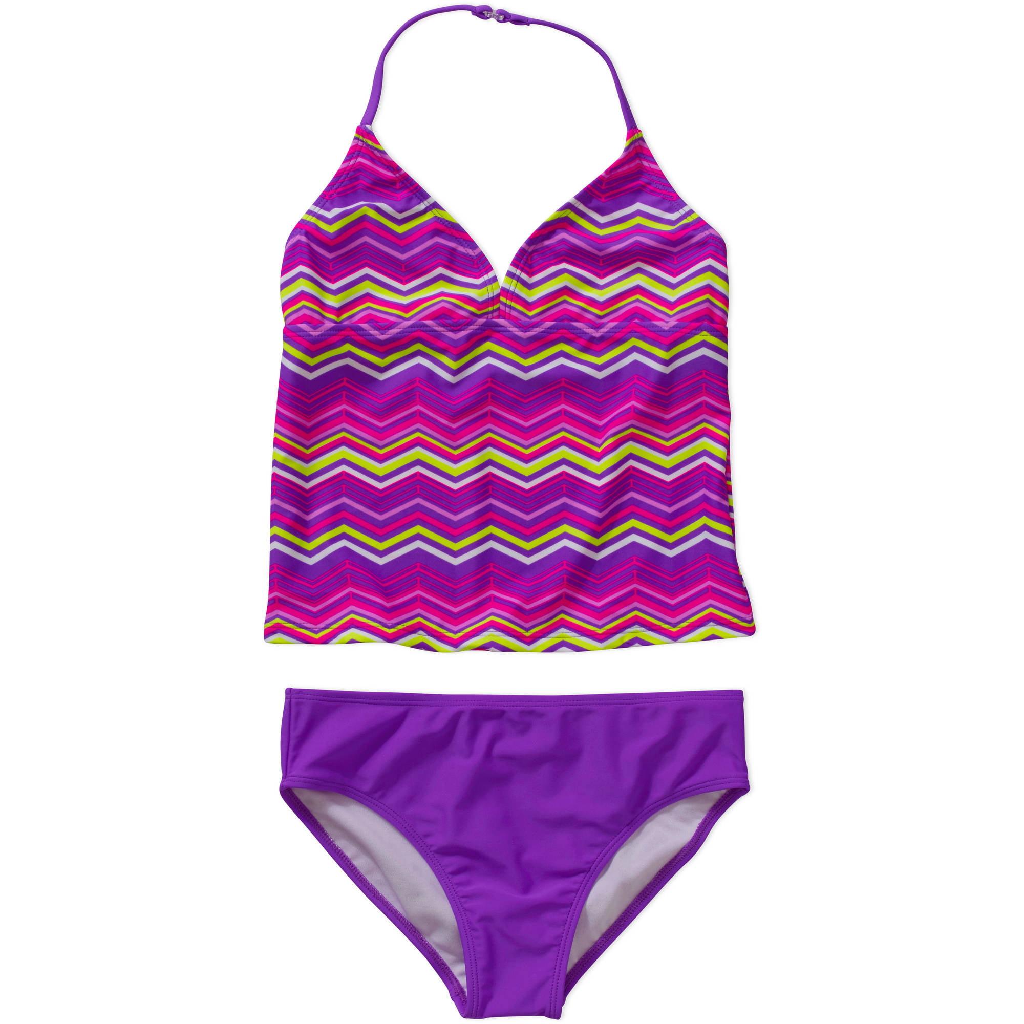 OP Girls' Chevron Tankini Swimsuit