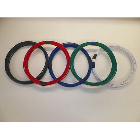 Dh Wire - 18 GXL HIGH TEMP AUTOMOTIVE WIRE 5 SOLID COLORS 10 FEET EACH 50 FEET TOTAL