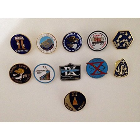 Gemini Mission Lapel Pin Collection 11 Pins Nasa Space Program Neil (Mission Lapel Pin)
