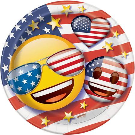 Patriotic Emoji Paper Plates, 9 in, 8ct](Patriotic Paper Plates)