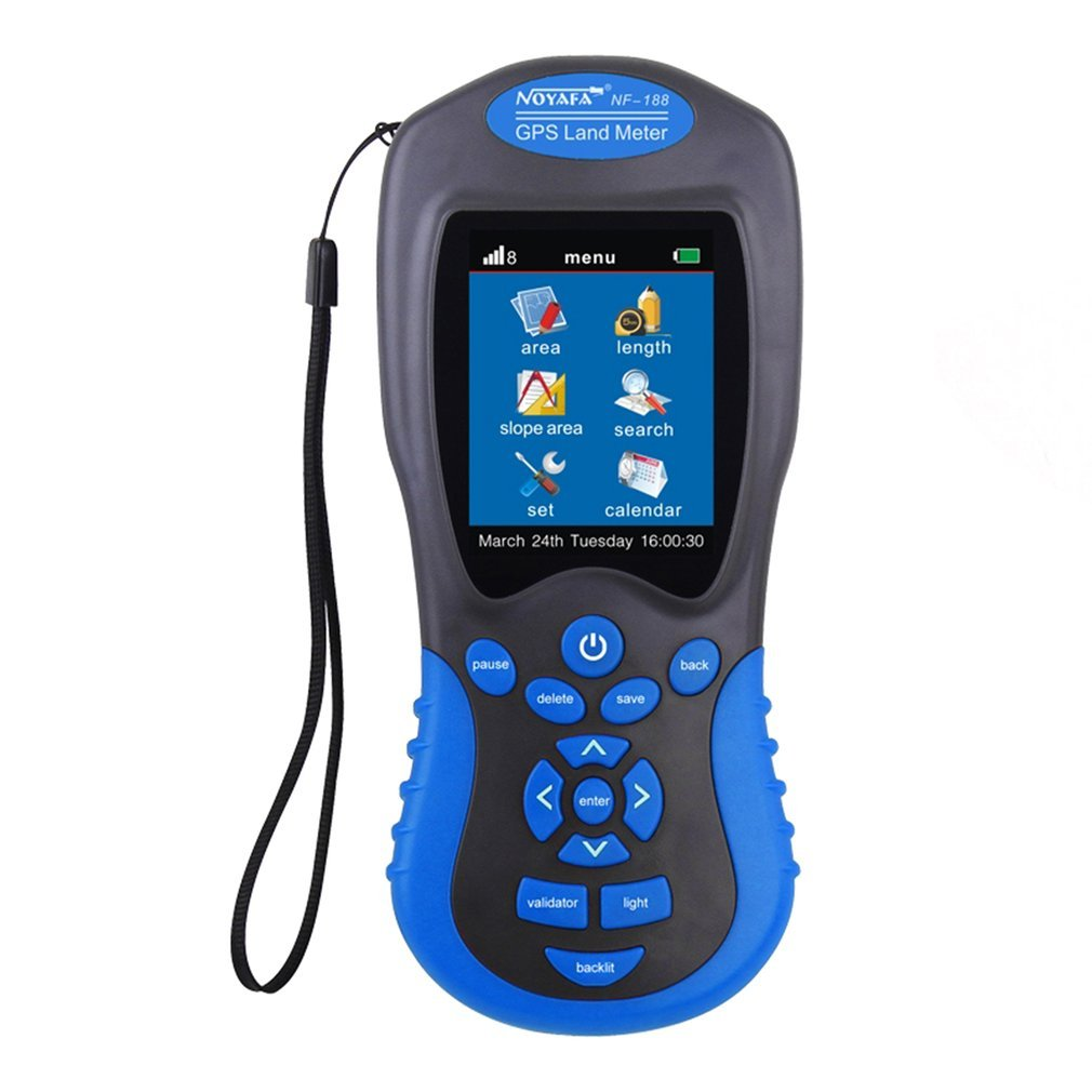 Noyafa NF-188 GPS Land Meter LCD Screen Display GPS Test Devices Land Measuring Instrument Portable Outdoor... by ACEHE