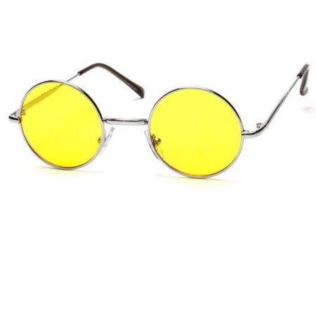 775e04c0fd4 Sunny Shades - John Lennon Style Vintage Retro Classic Circle Color Round  Sunglasses Men Women - Walmart.com