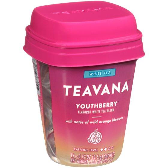 Teavana Youthberry Flavored White Tea Blend, Tea Bags, 15 Ct