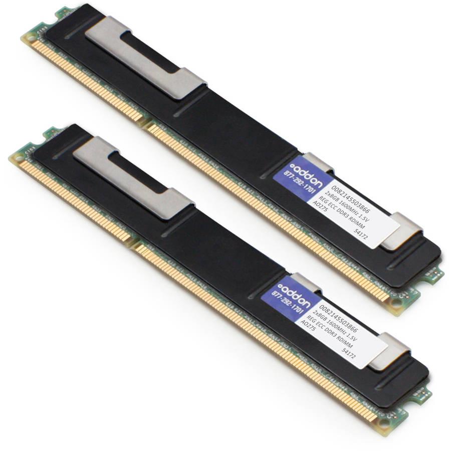 AddOn JEDEC Standard 16GB DDR3 DR ECC RDIMM DDR3 1600MHz Memory Module