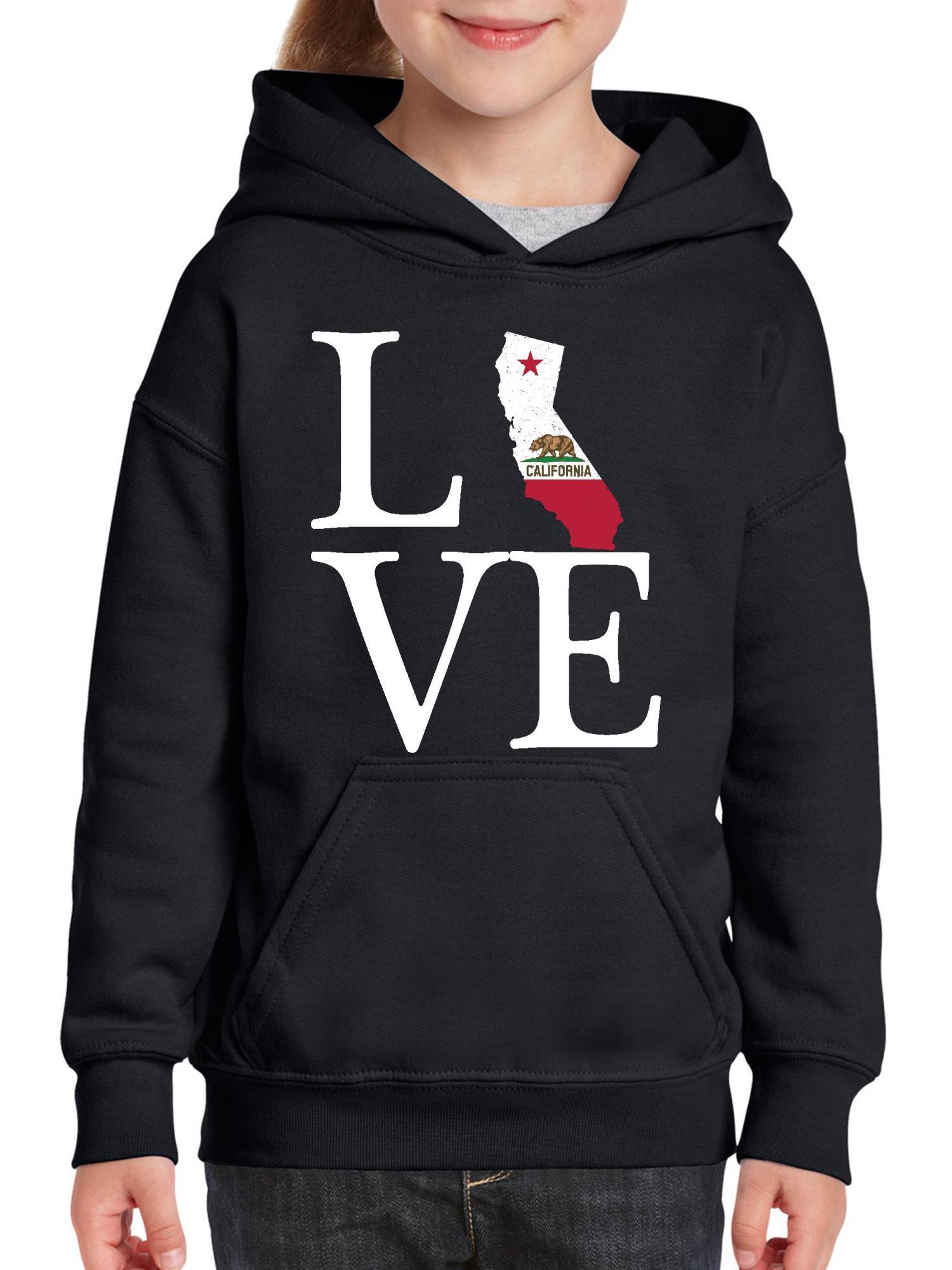 Love California Youth Hoodie Hooded Sweatshirt