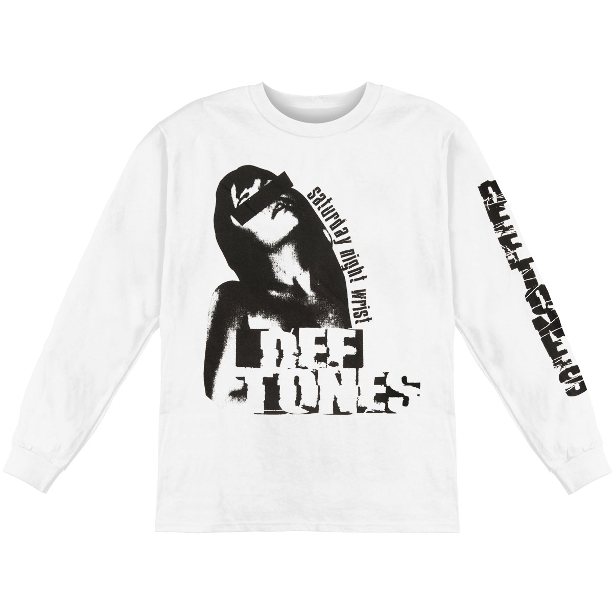 Deftones Men's  Sexploitation  Long Sleeve White
