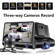 Best Car Camcorders - 4'' inch HD 1080P 3 Lens Car Video Review