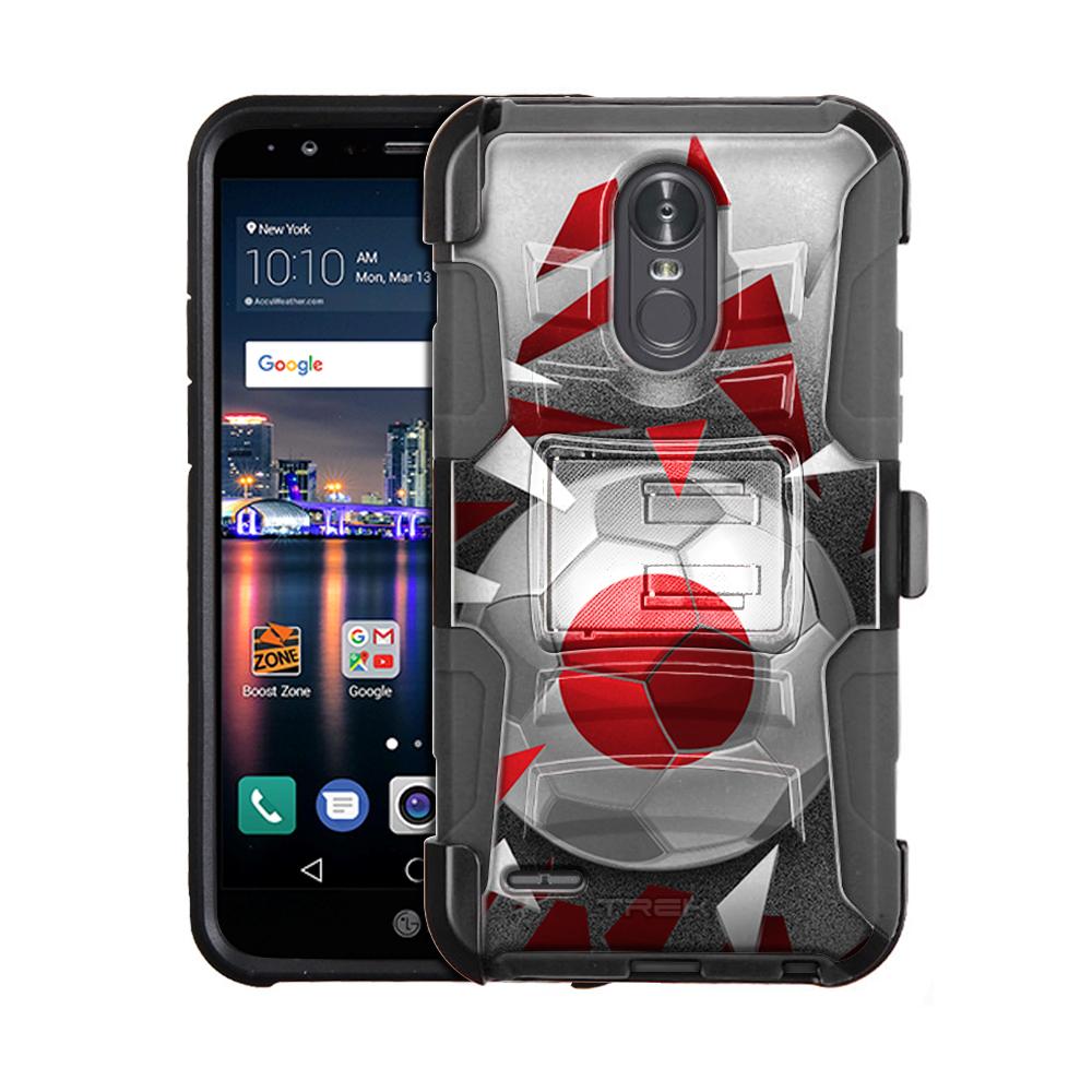 LG Stylo 3 Armor Hybrid Case Soccer Ball Japan Flag by Trek Media Group