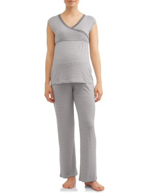 Maternity Nurture by Lamaze Nursing Sleeveless Top and Pants Sleep Set - Available in Plus Sizes