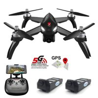 MJX Bugs 5W B5W GPS FPV RC Drone with Camera Live Video GPS Smart Return Quadcopter with 5G 1080P HD WiFi Camera and Follow Me Altitude Hold Headless Mode Track Flight Point of Interest Flying