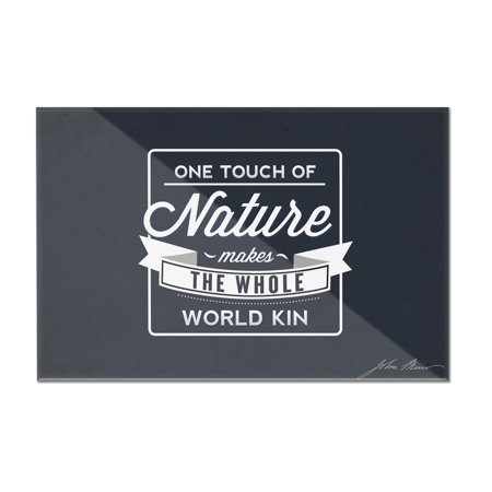 John Muir - One Touch of Nature - Lantern Press Artwork (36x24 Acrylic Wall Art Gallery Quality)