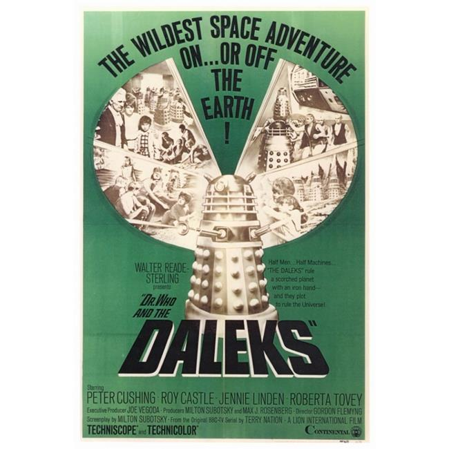 Pop Culture Graphics MOVGF4188 Dr. Who & The Daleks Movie Poster Print, 27 x 40 - image 1 de 1
