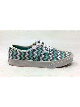 64a3fa5f23f920 Product Image Vans Girls Lo Pro Sneaker Chevron Stripe Bermuda Green White  Grey Youth 13 M