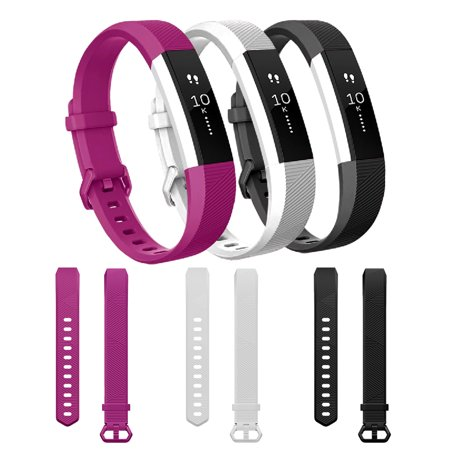 For Fitbit Alta HR Bands, iClover Replacement Silicone Wristband Accessories for Fitbit Alta Watch Strap, Women Men Kids Girls Style 3 Color Small Size ()