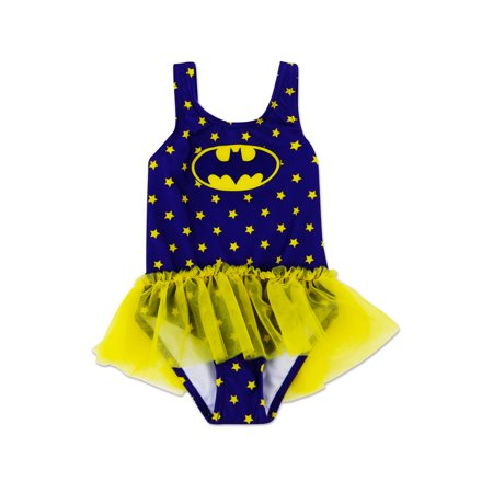 Infant Girl Batgirl One Piece Swimsuit - 12 Months