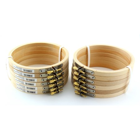 5 inch Round Wooden Embroidery Hoops Bulk 12 Pieces
