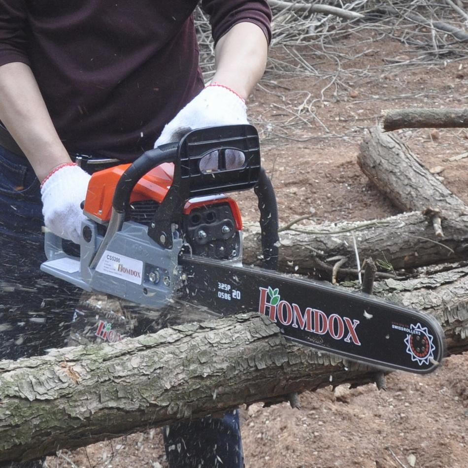 On Sale! 22 Inch Gas Chainsaw with 2 Stroke for Cutting Woods On Sale  52cc