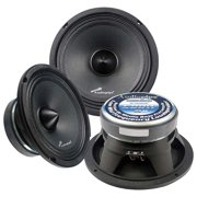 Car Stereo Speakers 8-inch Mid Range Component Audio Car Speakers  - Black