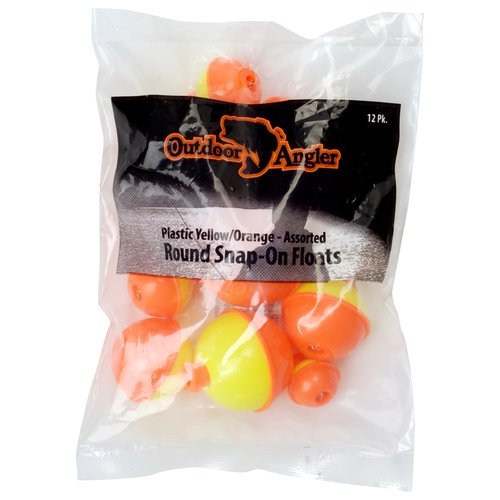 Outdoor Angler Assorted Snap-On Float Set, 12-Pack