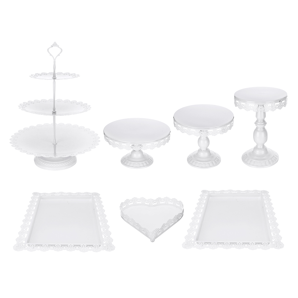 "9/"" Round Metal Cake Stand Holder Cupcake Dessert Display Wedding Party"