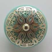 Intrade Global Cabana Ornate Mushroom Knob (Set of 4)