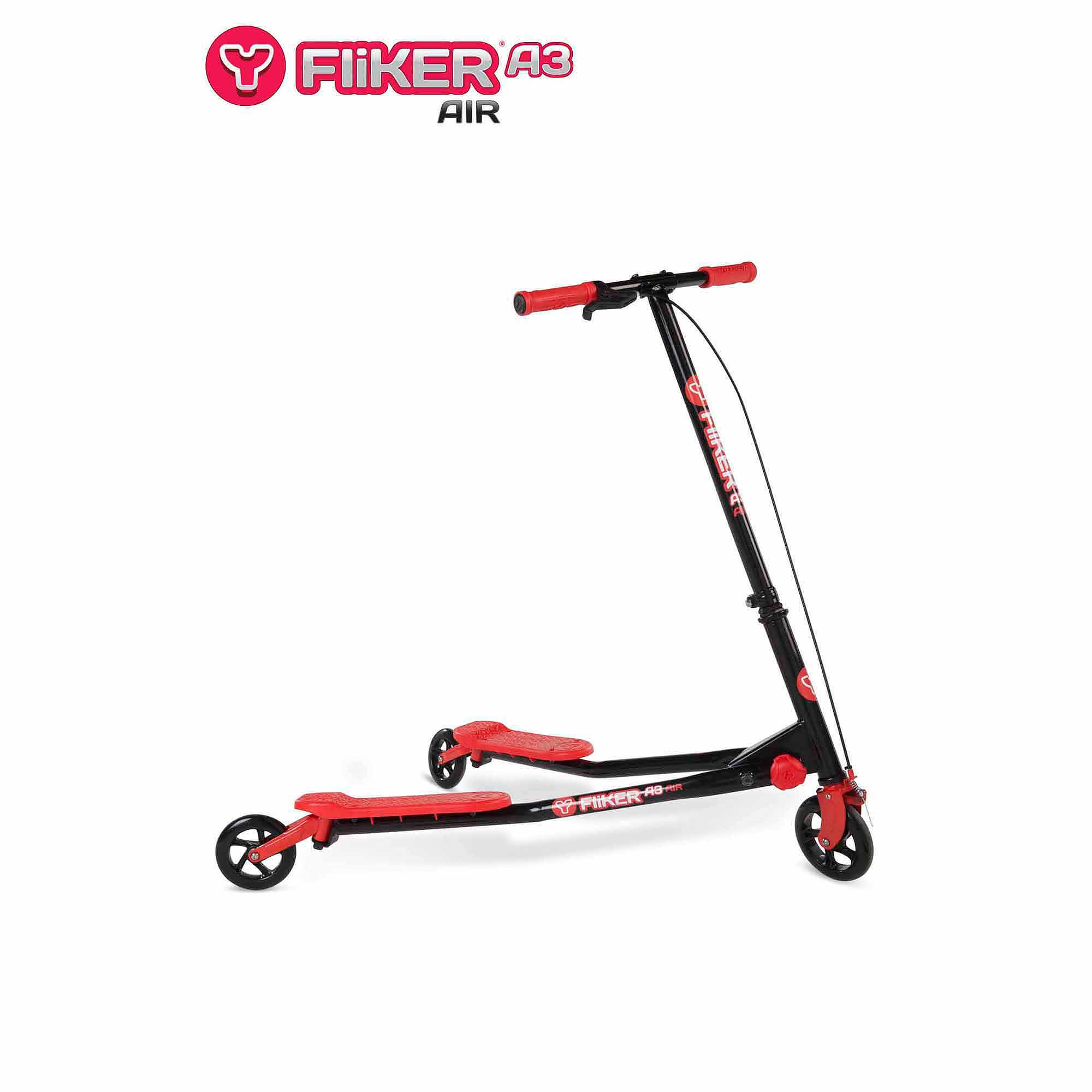 Yvolution Y Fliker A3 Air Scooter Black Red Walmart Com
