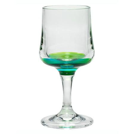 Green Wine Glasses (Merritt International Peacock Reflections 8oz Acrylic Wine)