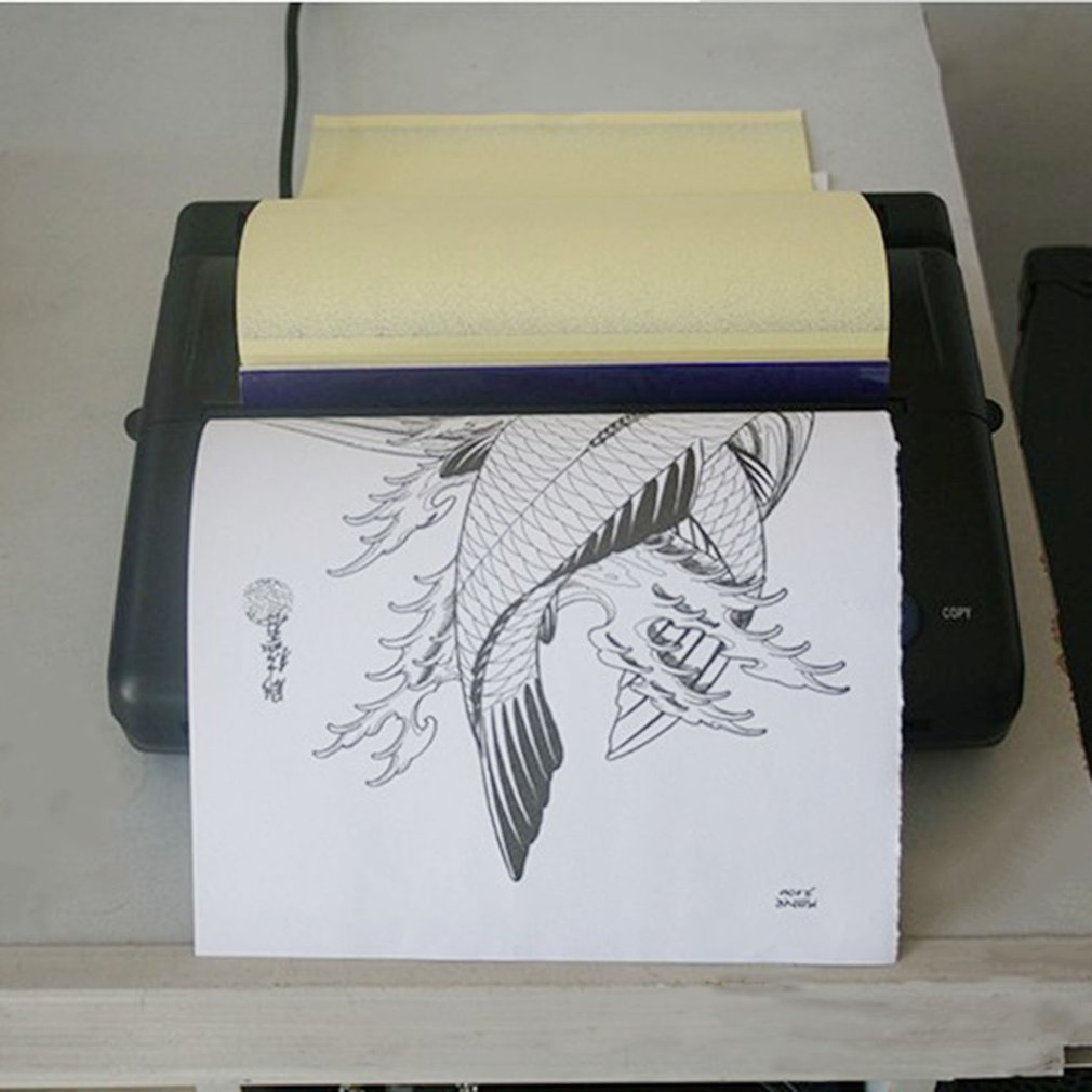Black Tattoo Transfer Copier Printer Machine Thermal Sten...