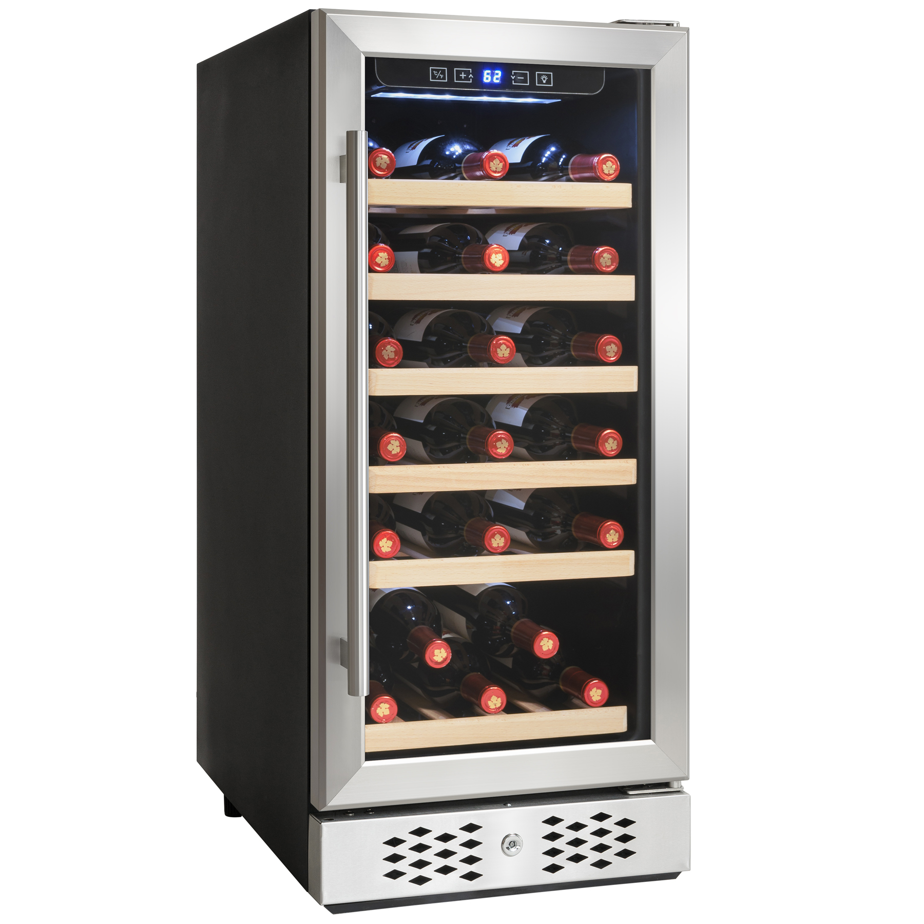 Image of AKDY 30 Bottles Single Zone Compressor Freestanding Wine Cooler Refrigerator Chiller