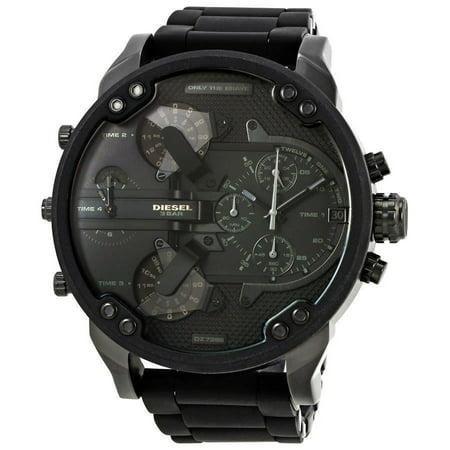 Men's Mr. Daddy DZ7396 Black Stainless-Steel Quartz Fashion Watch