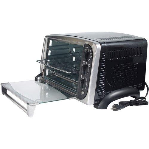 ge 0 75 cu ft toaster and convection oven black chrome walmart com rh walmart com GE Rotisserie Convection Toaster Oven GE Toaster Oven Model 169104