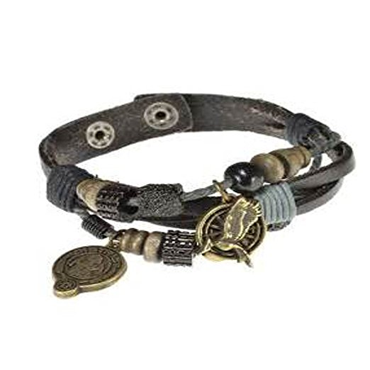 The Hunger Games Catching Fire District 12 Charmed Snap Bracelet
