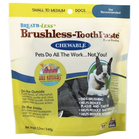 (Ark Naturals - Breath-Less Chewable Brushless-Toothpaste for Small to Medium Dogs - 12 oz. pack of 4)