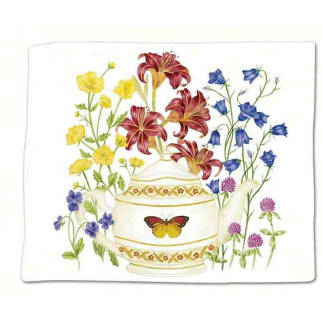 Butterfly Teapot Flour Sack Towel Single