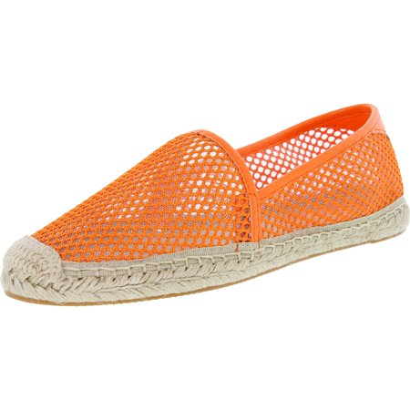 Rebecca Minkoff Women's Ginny Neon Orange Ankle-High Mesh Flat Shoe - 6M
