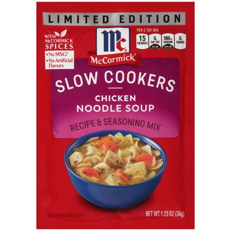 (3 Pack) McCormick® Slow Cookers Limited Edition Chicken Noodle Soup Recipe & Seasoning Mix, 1.23