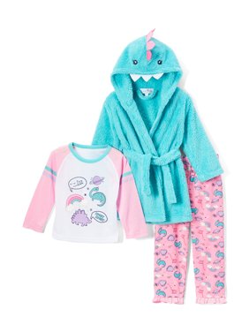 3b60091a06 Product Image Freestyle Revolution Girl s 3 Piece Pajama Sleep Set with  Plush Robe (Little Girl   Big