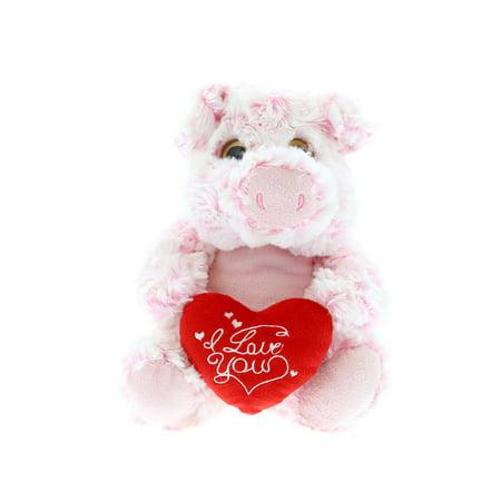 Sitting Pig (Super Soft Plush Dollibu Sitting Pig I Love You Valentines Plush)