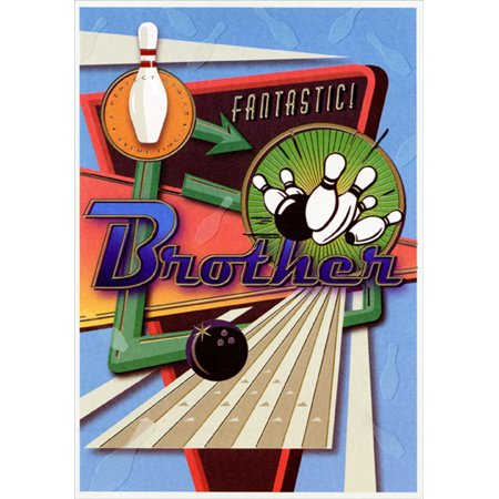 Designer Greetings Retro Bowling Sign: Fantastic Brother Father's Day