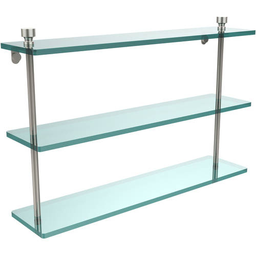 """Foxtrot Collection 22"""" Triple Tiered Glass Shelf (Build to Order)"""