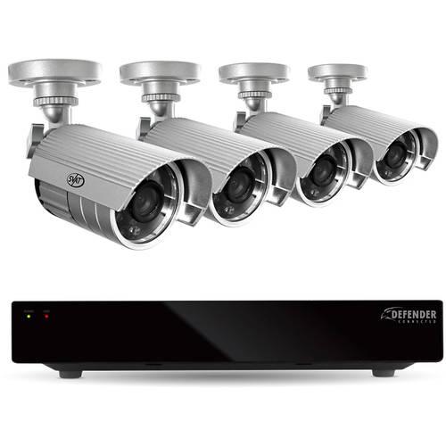 Defender 8-Channel 1TB DVR with Four 600TVL SVAT Series Cameras
