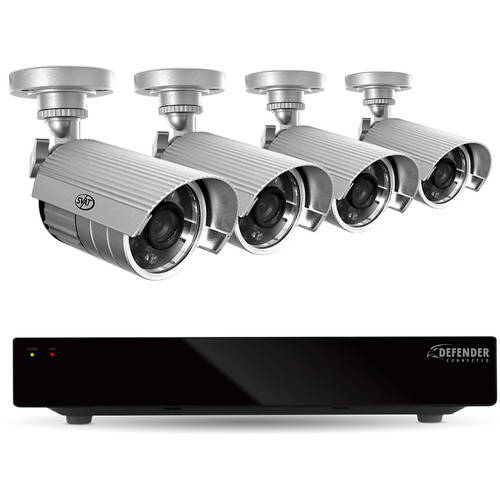 Defender 8-Channel, 4-Camera Outdoor Wired 1TB DVR Surveillance System 21377