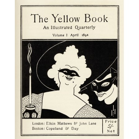 Design By Aubrey Vincent Beardsley 1872 1898 English Illustrator Of The Art Nouveau Era For The Cover Of The Yellow Book Volume 1 Canvas Art - Ken Welsh  Design